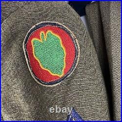 Named 21st Inf Reg 24th Division Korean War Uniform Named