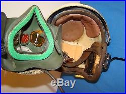 Named Korean War Era USMC Jet Pilots Flight Helmet, Combat & Trainer