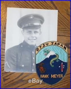Named Korean War Otsu Japan Patch 1st Marine Patch Photo & Embroidered Jacket