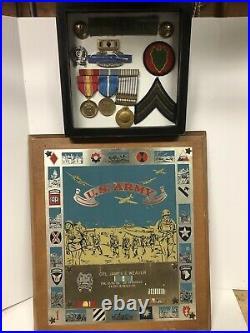Named Korean War Veterans Plaque & Decorations Lot Set