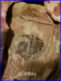 Named Original Korean War USMC Marine Corps Helmet Cover