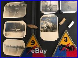 Named WWII/Korean War Photo Album Insignia grouping 25th Infantry 27th Wolfhound