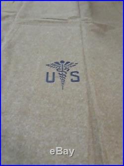 New 1951vintage Military Korean War 100% Wool Olive Drab Blanket (rare Find)
