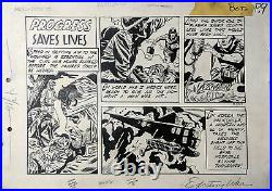 ORIGINAL ART, ROSS ANDRU, ESPOSITO, Exciting War #5, WWII 1952 Korean War 1/2 PG