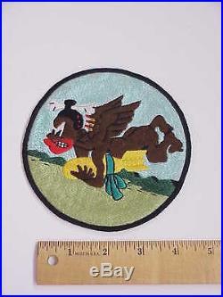 ORIGINAL Korean War era 728th Bombardment Squadron Cannibals Jacket Patch 5