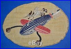 ORIGINAL LARGE CUT-EDGE KOREAN WAR 513th FIGHTER BOMBER SQUADRON PATCH