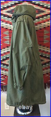 ORIGINAL US ARMY Korean War M-1951 FISHTAIL PARKA Jacket Coat made 1952 M Medium