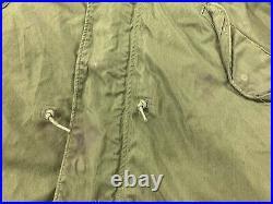 ORIGINAL US ARMY Korean War M-1951 M51 FISHTAIL PARKA Jacket Shell 1952 Medium