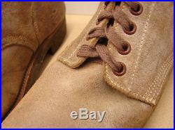 ORIGINAL WW2-Korean War USMC Leather Marine Combat Field Boots Size 13-1/2