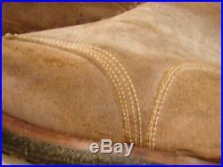 ORIGINAL WW2-Korean War USMC Leather Marine Combat Field Boots Size 13-F