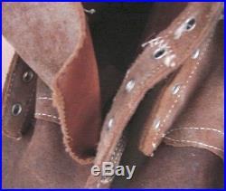 ORIGINAL WW2-Korean War USMC Leather Marine Combat Field Boots Size 5-E