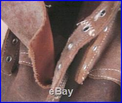 ORIGINAL WW2-Korean War USMC Leather Marine Combat Field Boots Size 6-EE