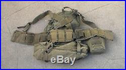 Old US Army WW2 to Korean War era Canvas M-1944 / M-1945 Combat Backpack Used