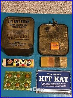 Opened Life Raft Ration With Extras From WWII Or Korean War