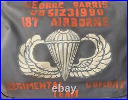 Original 187th Airborne Regimental Combat Team Korean War Painted B4 Flyers Bag