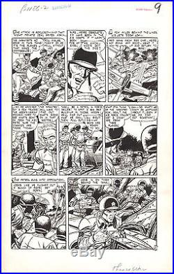 Original Art ROCCO MASTROSERIO Korean War Page STANDARD COMICS This Is War 1952