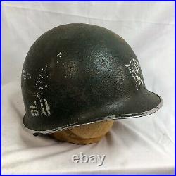 Original Front Seam M-1 Helmet Rok Korean Airborne Special Forces Vietnam War