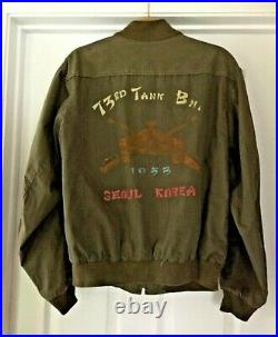 Original KOREAN WAR U. S. Army 73rd TANK Battalion JACKET. Designation on Back