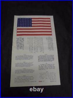Original Korean / Vietnam War US Air Force Pilot's Blood Chit Translation Escape