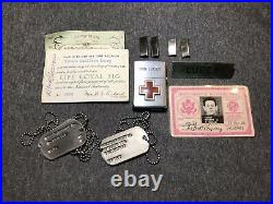 Original Korean War 1st Lt. Army 1958 Zippo Lighter Engraved with Red Cross