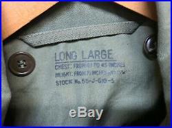 Original Korean War Era US ARMY M-1951 Field Jacket Size Long Large Dated 1953