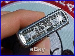 Original Korean War Etched Zippo Lighter 21st Troop Carrier Squadron