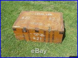 Original Korean War Korean Chest Used By Us Marine As Footlocker