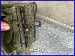 Original Korean War M1937 BAR Belt 1951. Super Nice, Likely Unissued