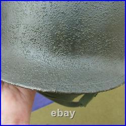 Original Korean War M1C Paratrooper Helmet With Proper Original Liner