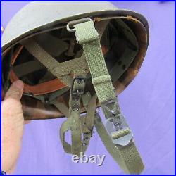 Original Korean War M1C Paratrooper helmet Proper Original Liner