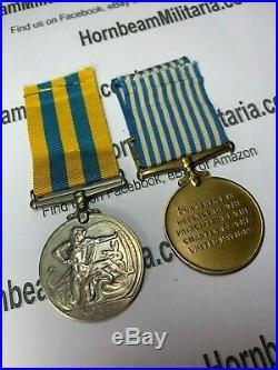 Original Korean War Medal Pair, Original Ribbons, Excellent Condition