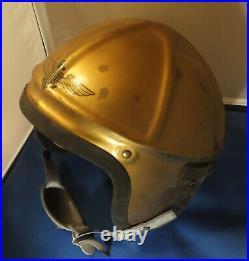 Original Korean War Navy Fighter Pilot Helmet Genex H-4 Large
