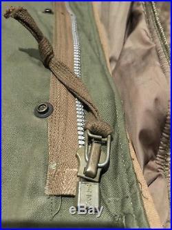 Original Korean War U. S. Army Extreme Cold Weather M1951 Fishtail Parka + Liner