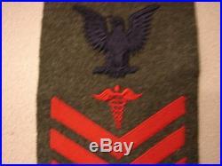 Original Korean War USMC Marine 1st Class HOSPITAL CORPSMAN Rate