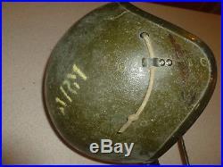 Original Korean War UWH-0142 Postwar US Tanker Helmet with Comms