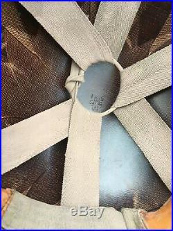Original Korean War-era US Paratrooper/Airborne Helmet Complete shell and liner
