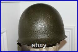Original Late WW2/Korean War Era U. S. Marine's M1 Helmet & Liner Set withInsignia