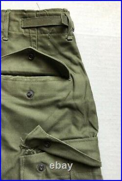 Original M1951 Shell Field Trousers Unlined NOS Unissued Korean War Medium Reg