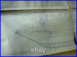 Original Post WWII Korean War Large Unknown Amphibious Cargo Vehicle Blueprints