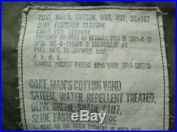 Original US Army Korean War M-1951 Field Jacket Medium Regular 1956