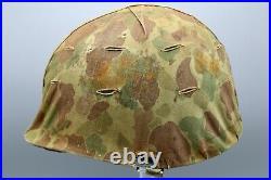 Original US Korean War USMC M1 Helmet with Frog Skin Cover
