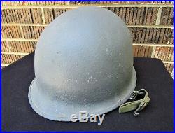 Original US NAVY USN WWII Korean War Vietnam War M1 Helmet- NAMED