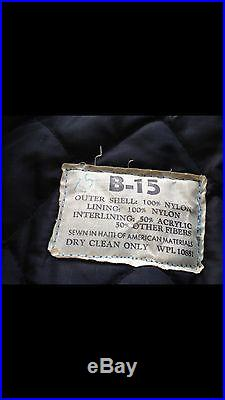 Original USAF B-15B Flight Jacket Korean War Nylon ID'd Pilot Bomber
