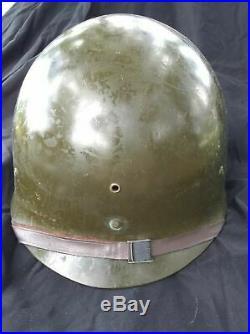 Original Us Ww2 / Korean War Army Helmet Liner Complete With Chin Strap