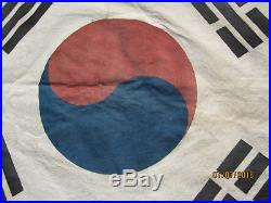 Original Vintage 1940s-1950s Korean War / WWII South Korea Flag