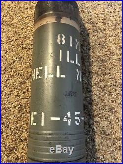 Original WW2 Korean War M84A1 TKL-3-86 81MM 301 A1 Inert Shell