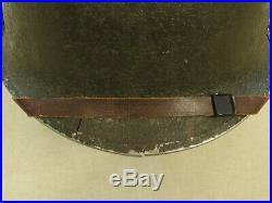Original WW2/Korean War U. S. 84th Infantry Div. M1 Helmet The Railsplitters