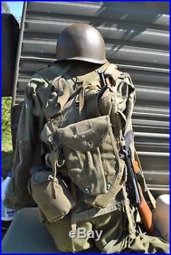 Original Ww2/korean War Uniform, Gear, Helmet(rifle Not Included)