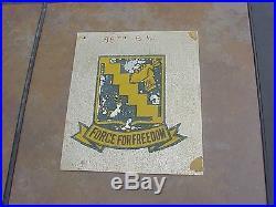 Original Wwii / Korean War 98th Bomb Wing Emblem Cut From Aircraft