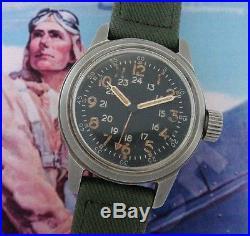 Outstanding Men's Korean War Era Elgin A-17A Aviator's Watch SERVICED